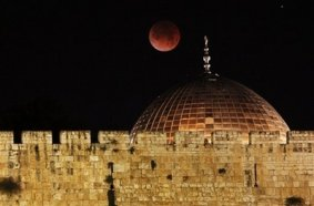 Blood Moon over Jerusalem, February 2008